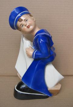 Porcelain Boy Figurine - 1948