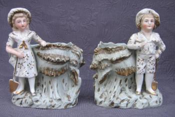 Pair of Porcelain Stutues - 1890