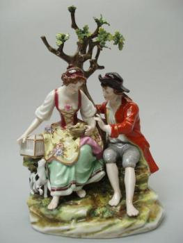 Porcelain Group of Figures - white porcelain - Volkstedt - Rudolstadt (Müller & CO.) - 1920